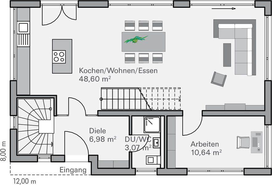grundriss eg fendt house plan pinterest house nice houses and smallest house. Black Bedroom Furniture Sets. Home Design Ideas