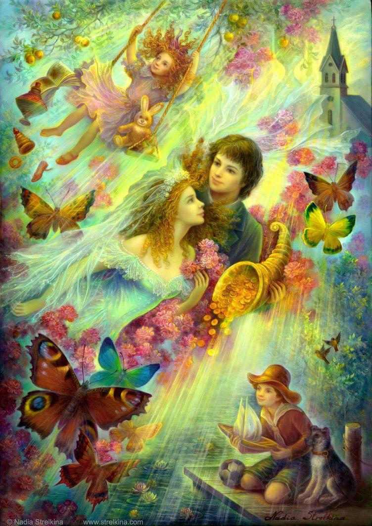 Happy together by Fantasy-fairy-angel on deviantART   Art-Nadia ...