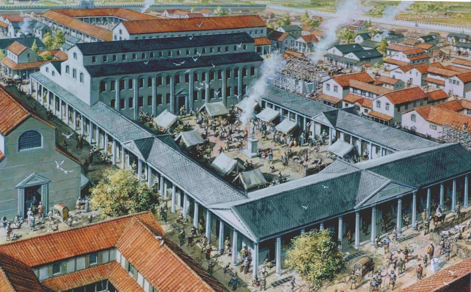 реконструкция улиц древнего рима фото