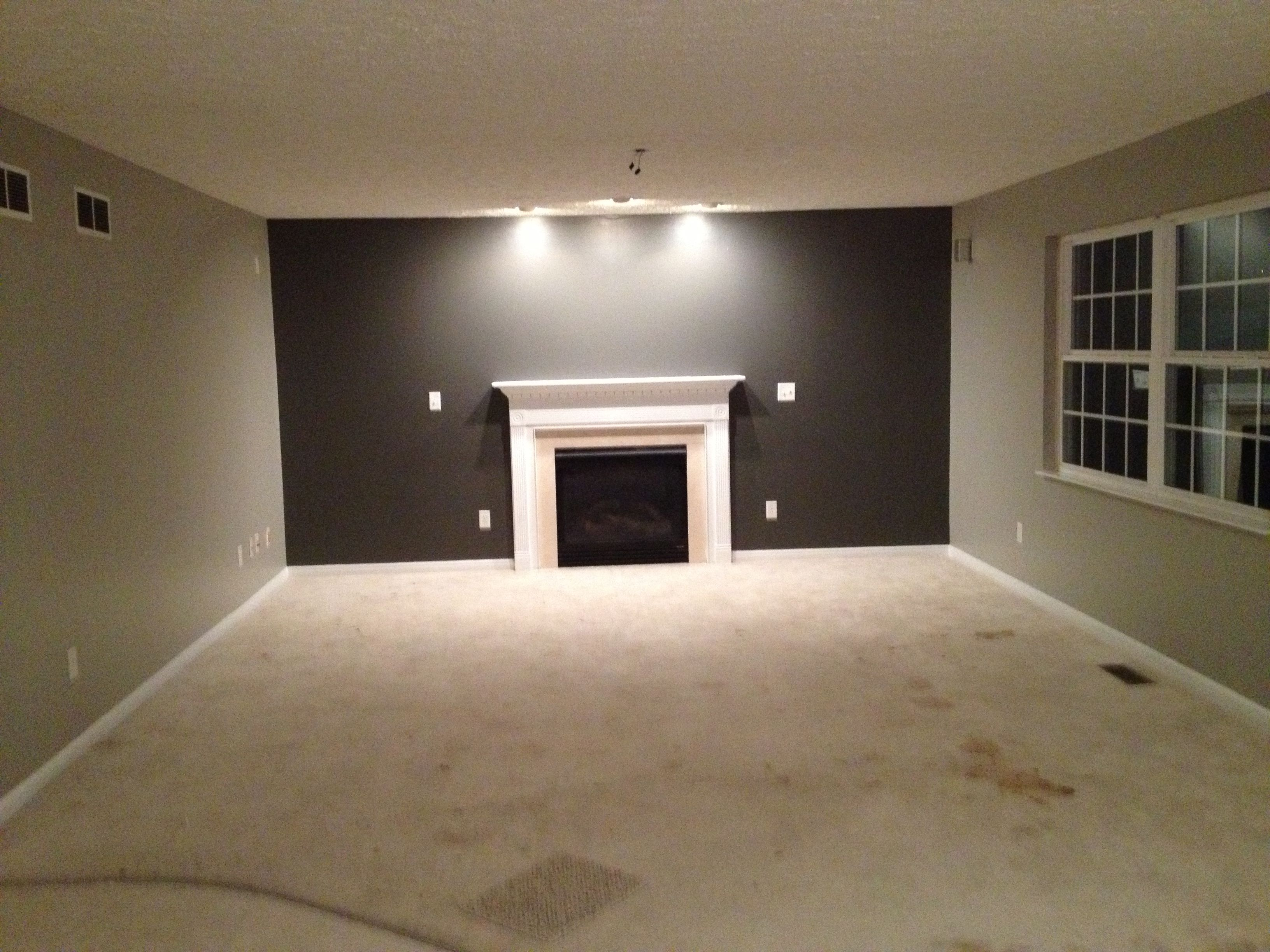Basement Bedroom Colors Martha Stewart Paint Bedford Grey With Seal Accent Wall
