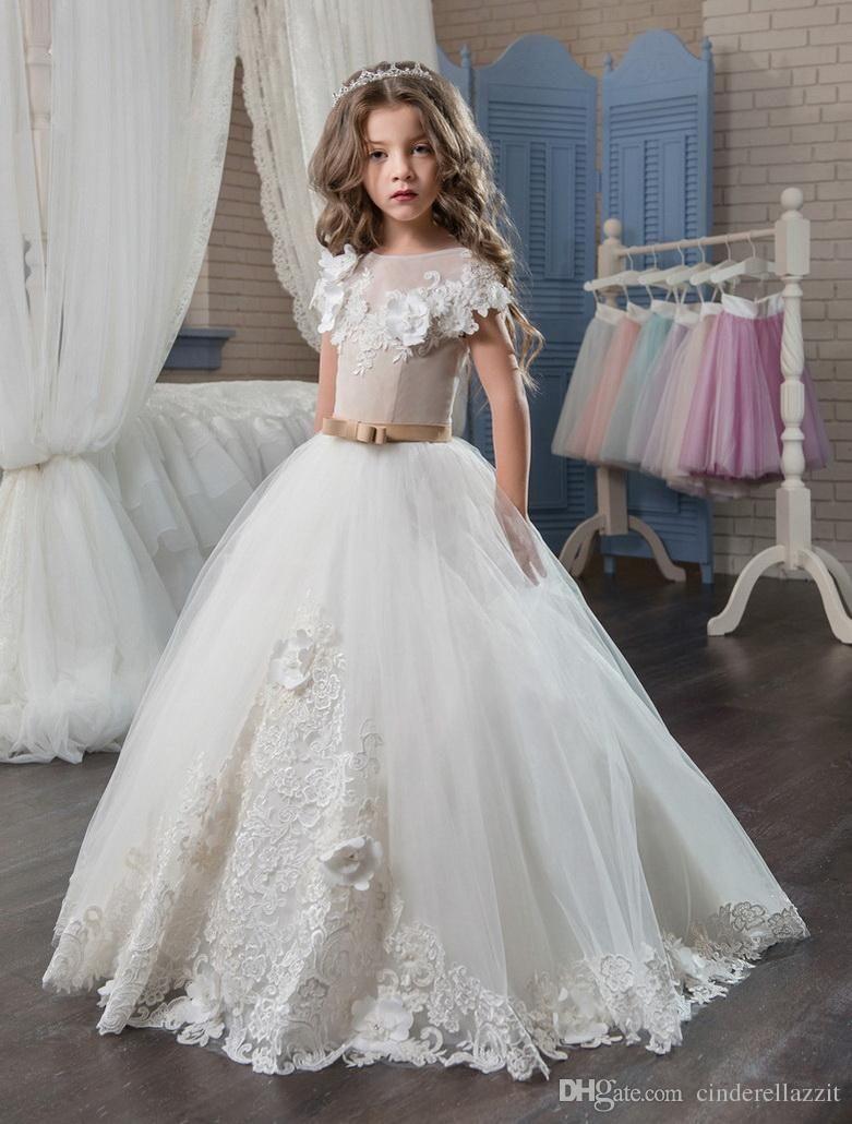 Compre 2019 Vestidos Elegantes De Primera Comunión Para