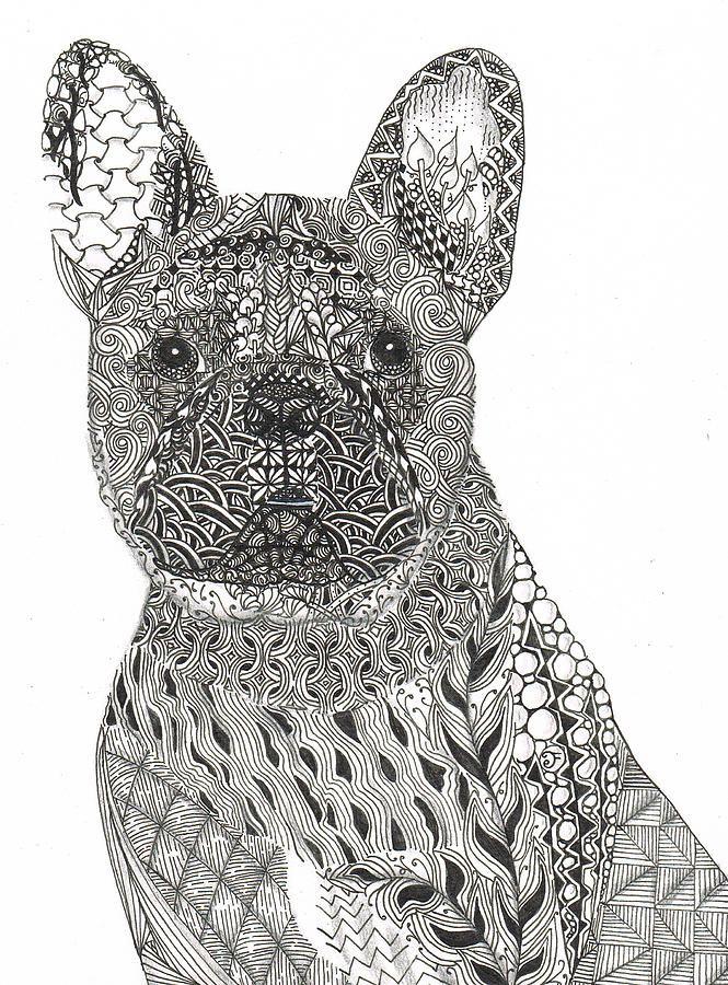Zentangle Inspired French Bull Dog Dianne Ferrer 665