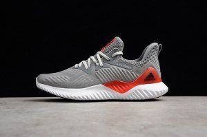 3695ea1a03191 Mens Adidas Alphabounce Beyond Wolf Grey Orange AC8625 Running Shoes ...