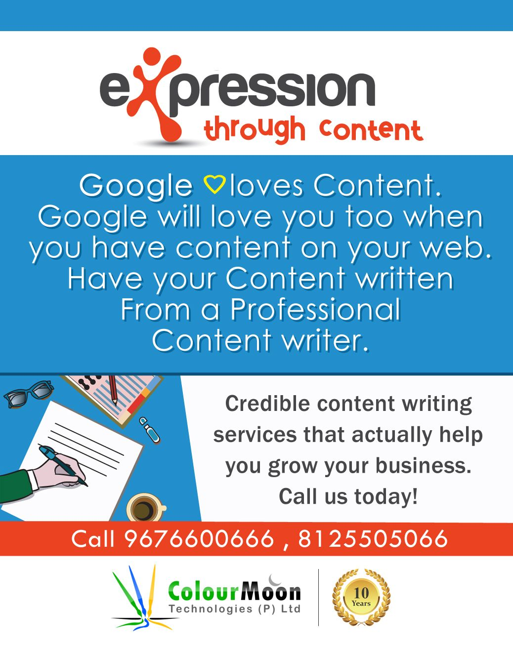 Web Contentwriting Service The Colour Moon Technologies Provide High Quality Affordable Web Content Writing Writing Services Content Writing App Development