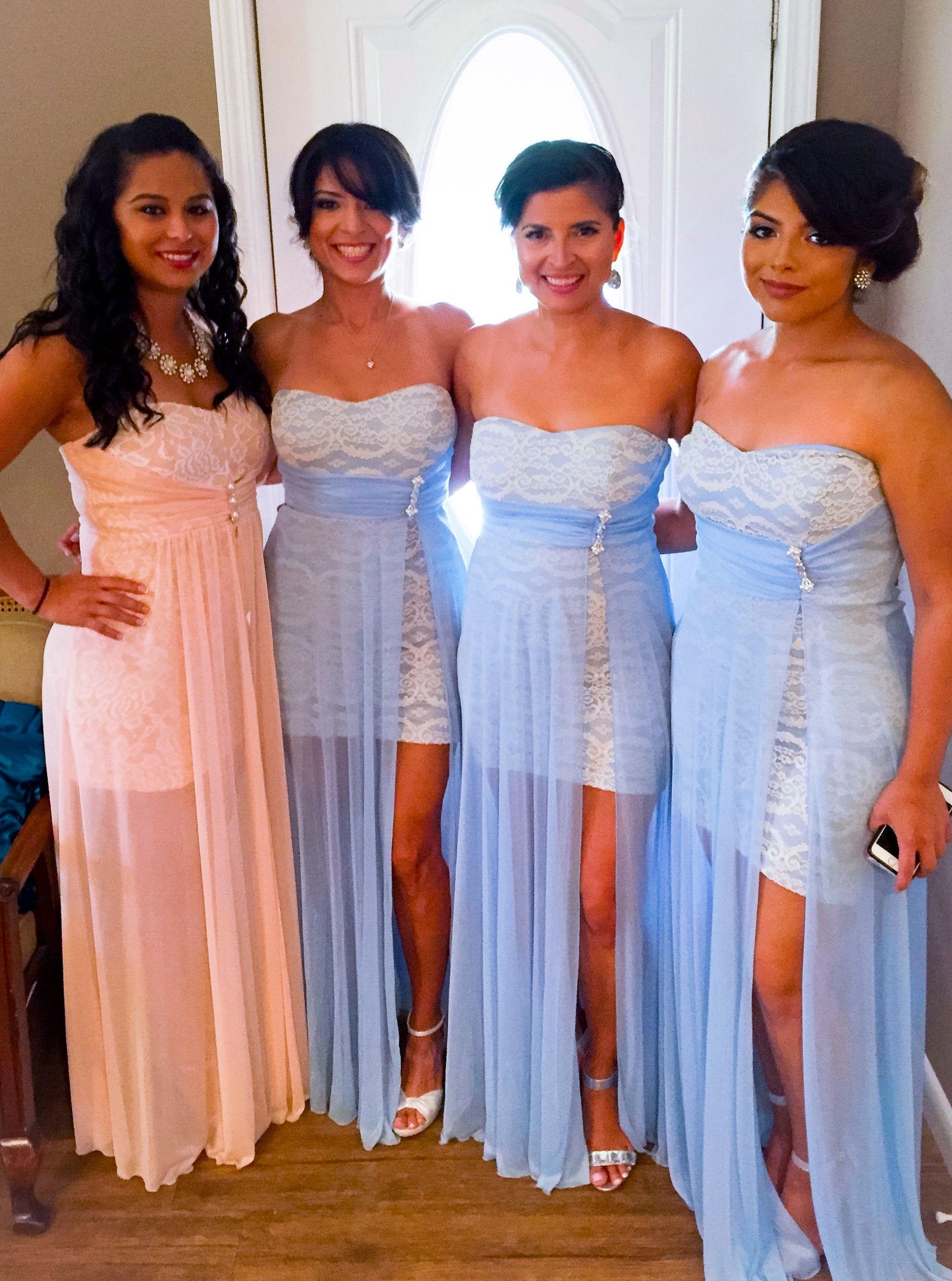 bridesmaid style amalia in shown blue light lighting dresses
