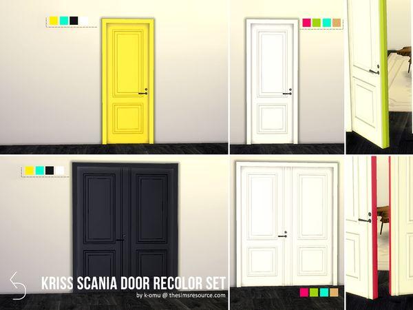 Kriss Scania Door Recolor Set by komu at TSR via Sims 4