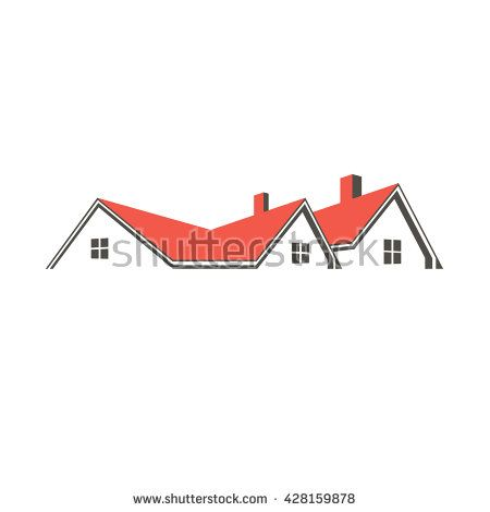 Roof Top Houses Logo Vector Graphic Design House Illustration Home Logo Roofing