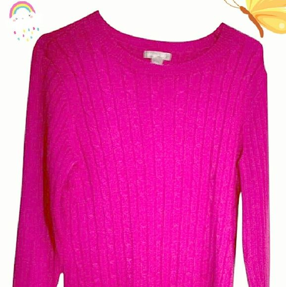 Hot Pink! Cotton Blend Sweater Like new. Sz 12/14. Ladies large ...