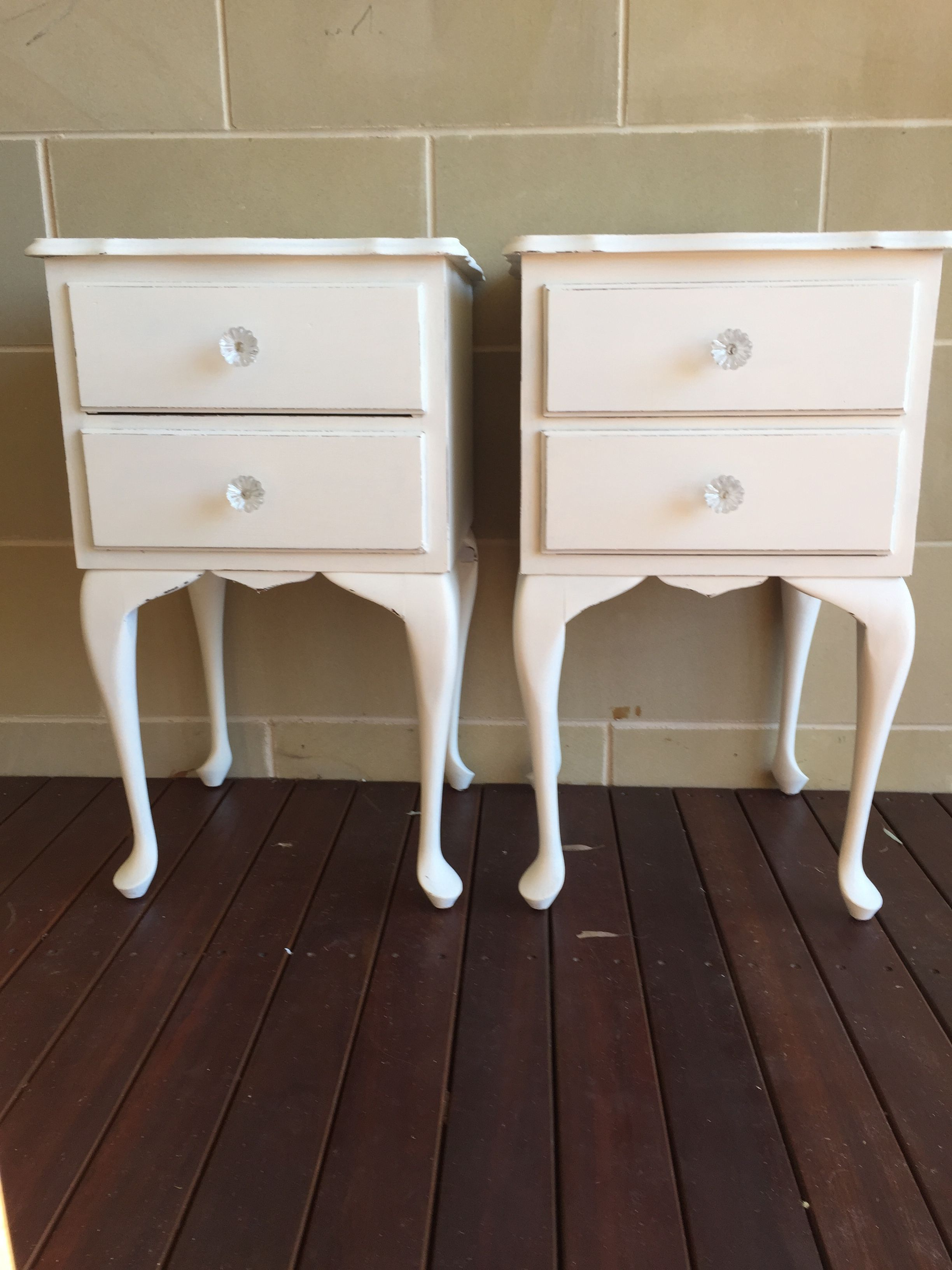 Shabby chic bedside tables- Fusion mineral paint Limestone ...