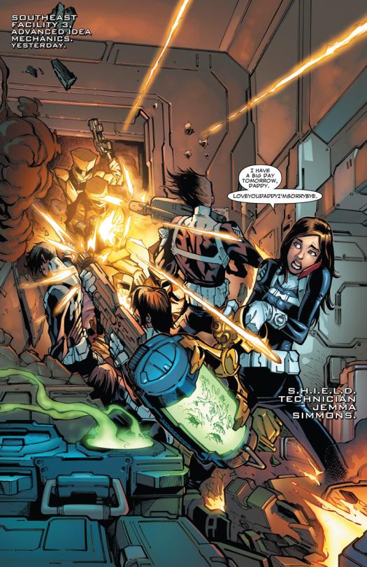 S.H.I.E.L.D. v3 #2 (2015) pencil by Humberto Ramos / ink by Victor Olazaba / color by Edgar Delgado