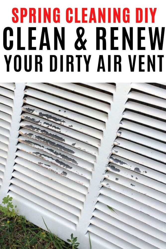 How to Clean Your Return Air Vent Spring cleaning