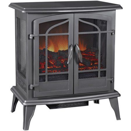 Pleasant Hearth Ses 81 80 Vintage Iron Legacy Electric 25 Pattened Panoramic View Stove Walmart Com Stove Heater Electric Stove Best Electric Fireplace