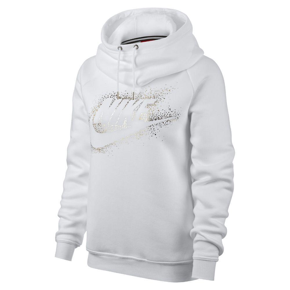 Nike Sportswear Rally Funnel Neck Women's Fleece Hoodie Size