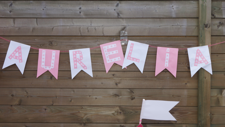 self made name birthday garland