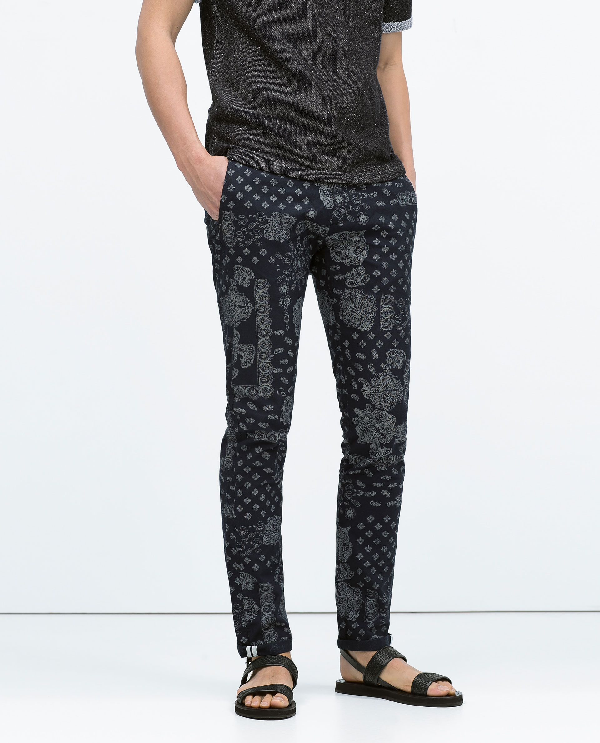 37e5c04c Zara PAISLEY PRINT TROUSERS | men's style in 2019 | Printed trousers ...