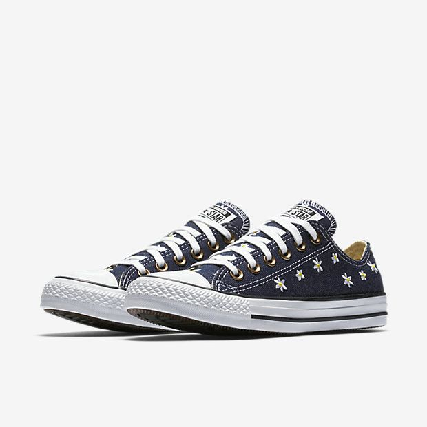 f99370a6a76 Converse Chuck Taylor All Star Denim Floral Low Top Women s Shoe ...
