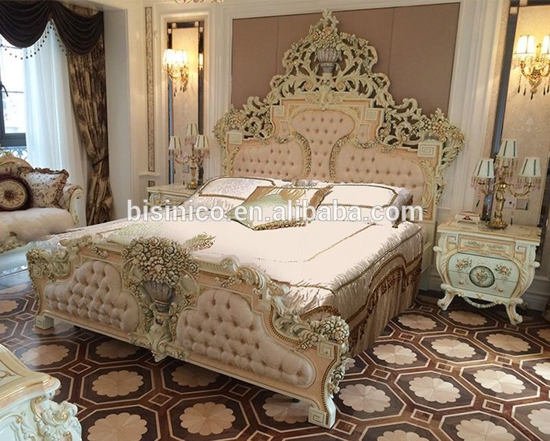 Italian French Rococo Luxury Bedroom Furniture Dubai Set Luxurybeddingfurniture