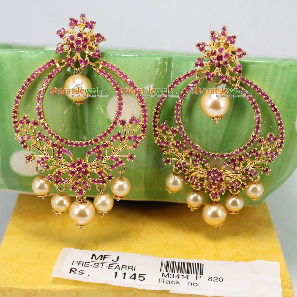 Ruby Stone Earrings Online