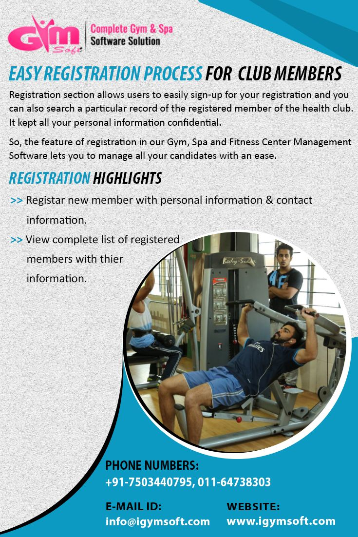 Make Easy Registration Process For Club Members From Gym