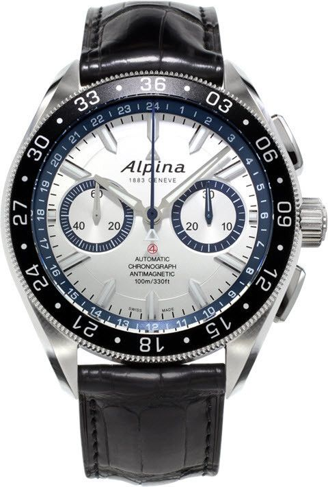 Alpina Watch Alpiner Chronograph 4 Limited Edition #bezel-bidirectional #bracelet-strap-alligator #brand-alpina #case-material-steel #case-width-44mm #chronograph-yes #delivery-timescale-call-us #dial-colour-white #gender-mens #limited-edition-yes #luxury #movement-automatic #official-stockist-for-alpina-watches #packaging-alpina-watch-packaging #style-sports #subcat-alpiner #supplier-model-no-al-860ad5aq6 #warranty-alpina-official-2-year-guarantee #water-resistant-100m