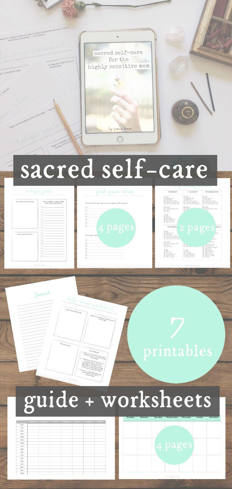 Workbooks self care worksheets : Sacred Self-Care for Moms Guide + Worksheet Bundle | Highly ...