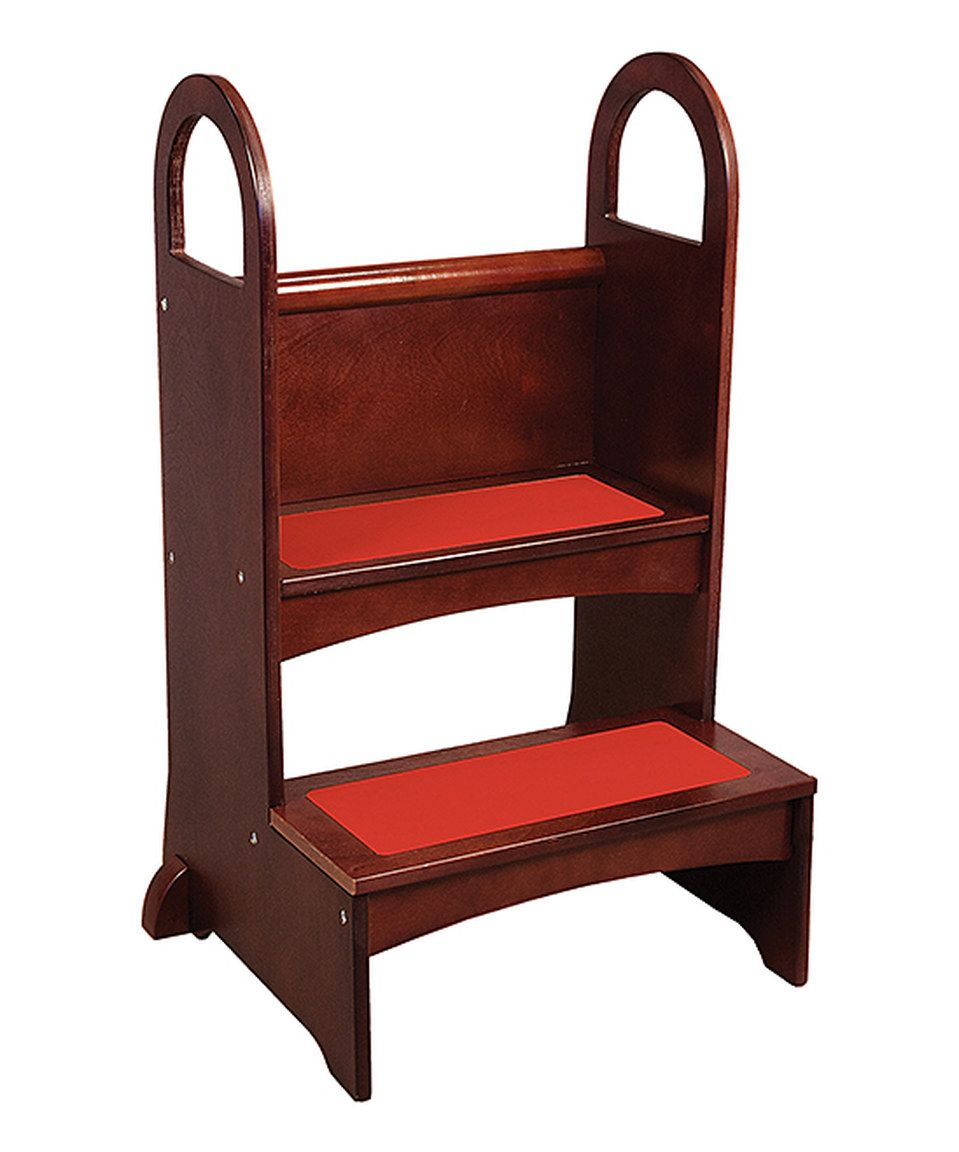 This Espresso High Rise Step Up Stool By Guidecraft Is Perfect