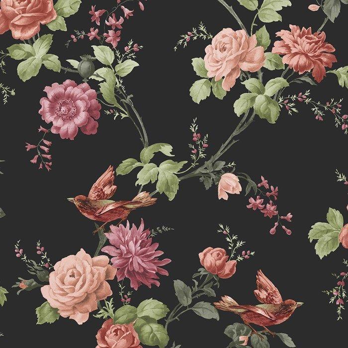 одно самых обои на стену цветы на темном фоне последствие