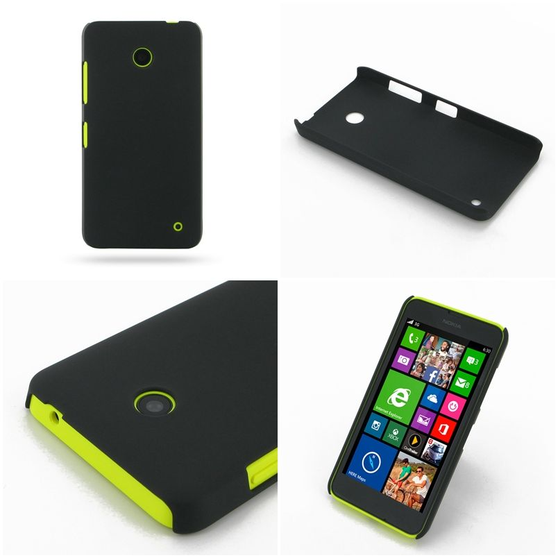 PDair Rubberized Hard Cover for Nokia Lumia 630 Dual SIM