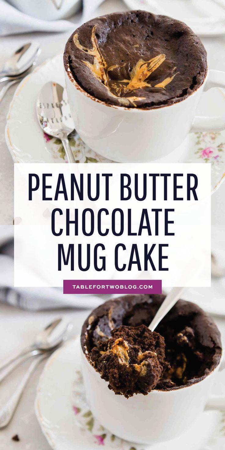 Peanut Butter Chocolate Mug Cake - Egg-Free Peanut Butter Mug Cake