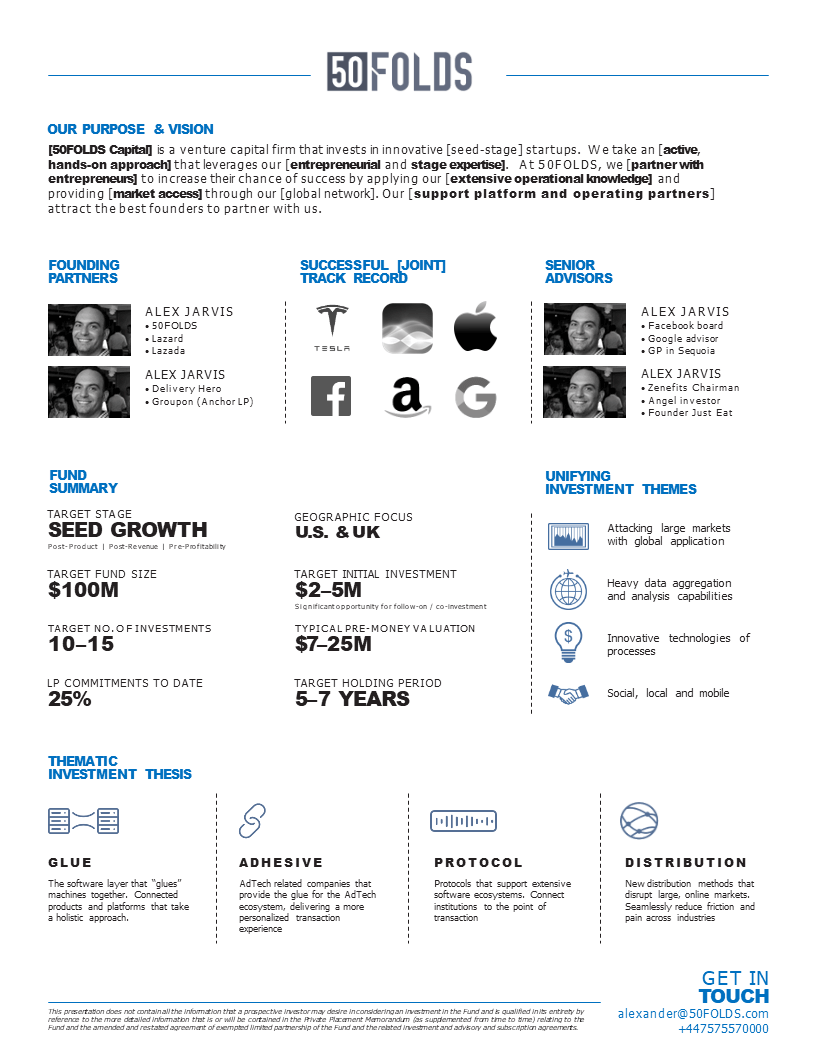 Lp One Pager Venture Capital Pagers One Pager Design