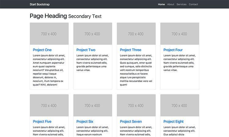 Free Bootstrap 4 Portfolio Theme Bootstrap Template Templates Web Design