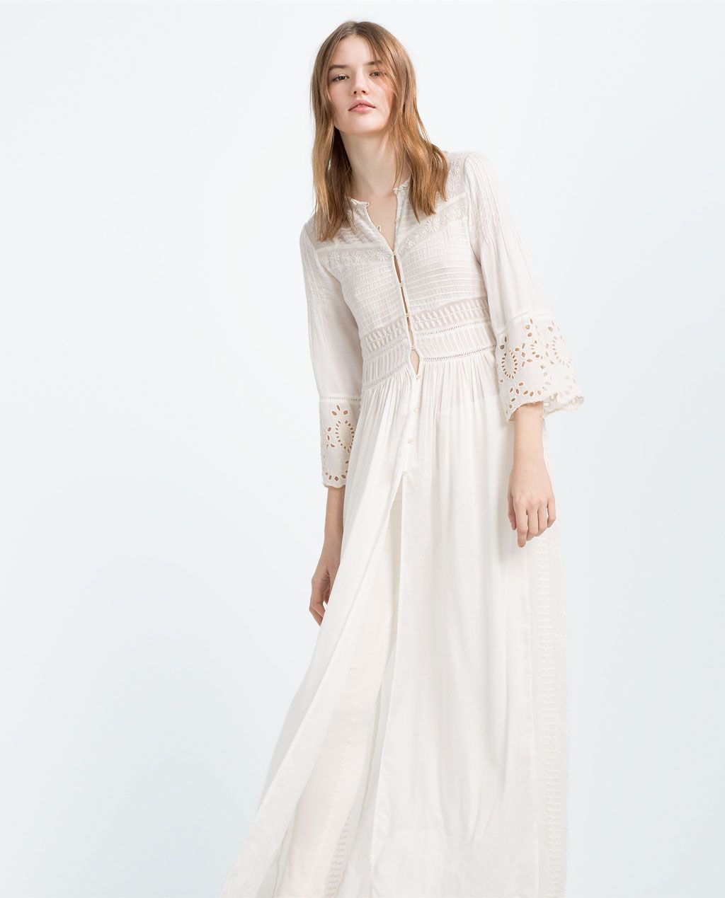 a576d4873ec EMBROIDERED FLOWING ROBE-Maxi-DRESSES-WOMAN