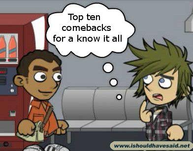 How to say good comebacks
