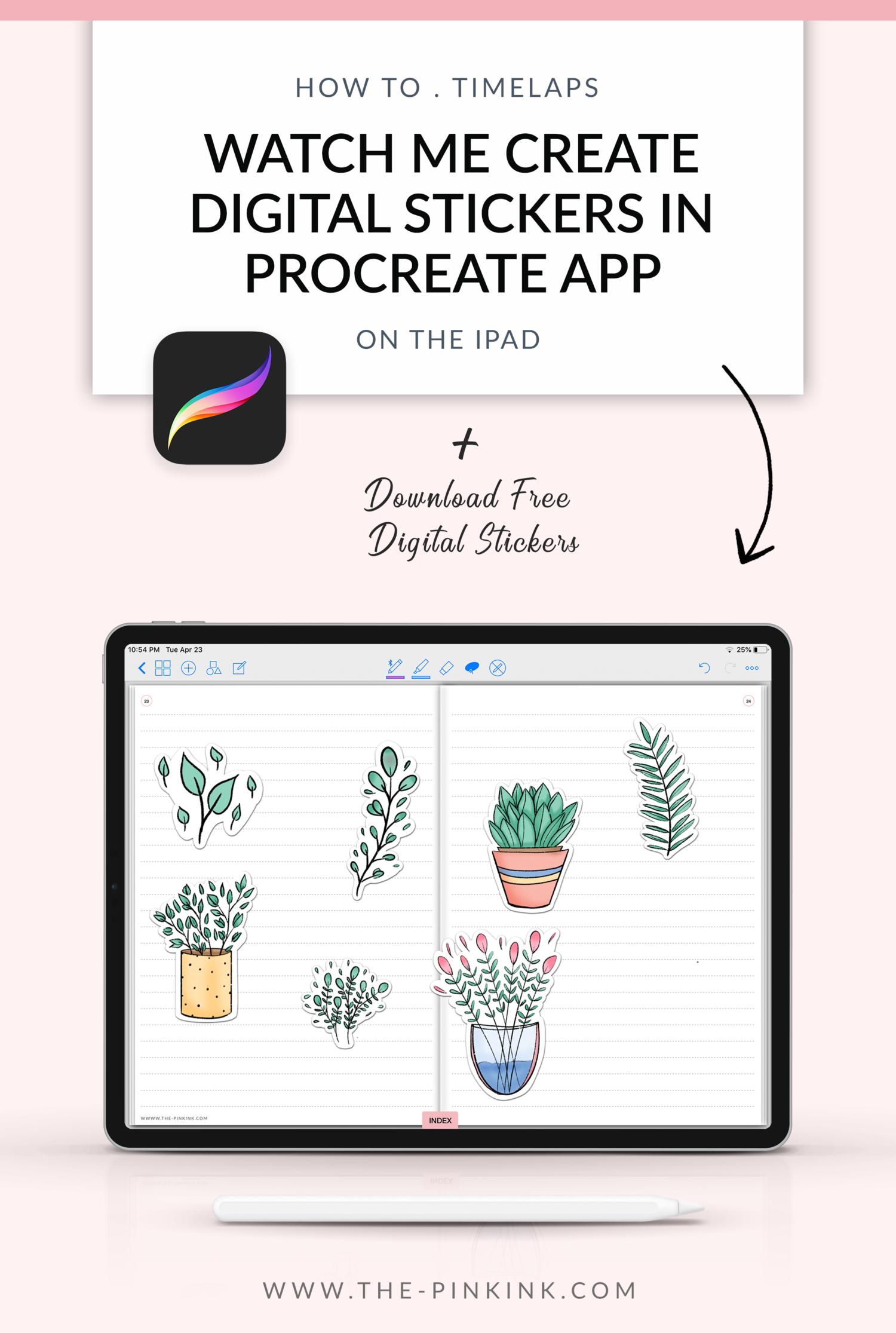How to create Digital Stickers in Procreate app Ipad