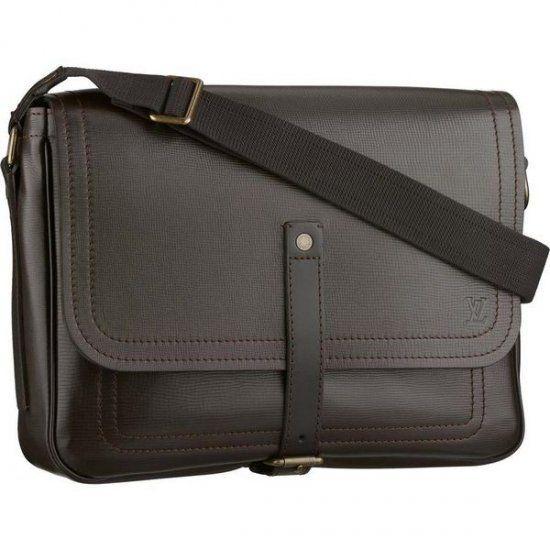063be6b2f0 Men Louis Vuitton Utah Leather Messenger Black M92071 | Louis ...
