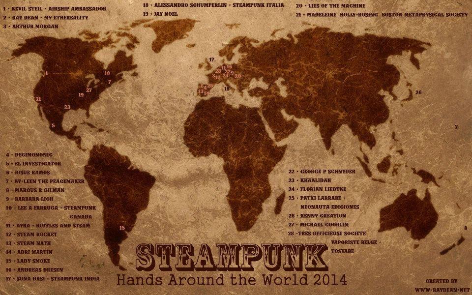 Steampunk world map bsteampunkb hands around the bworldb steampunk world map bsteampunkb hands around the b sciox Images