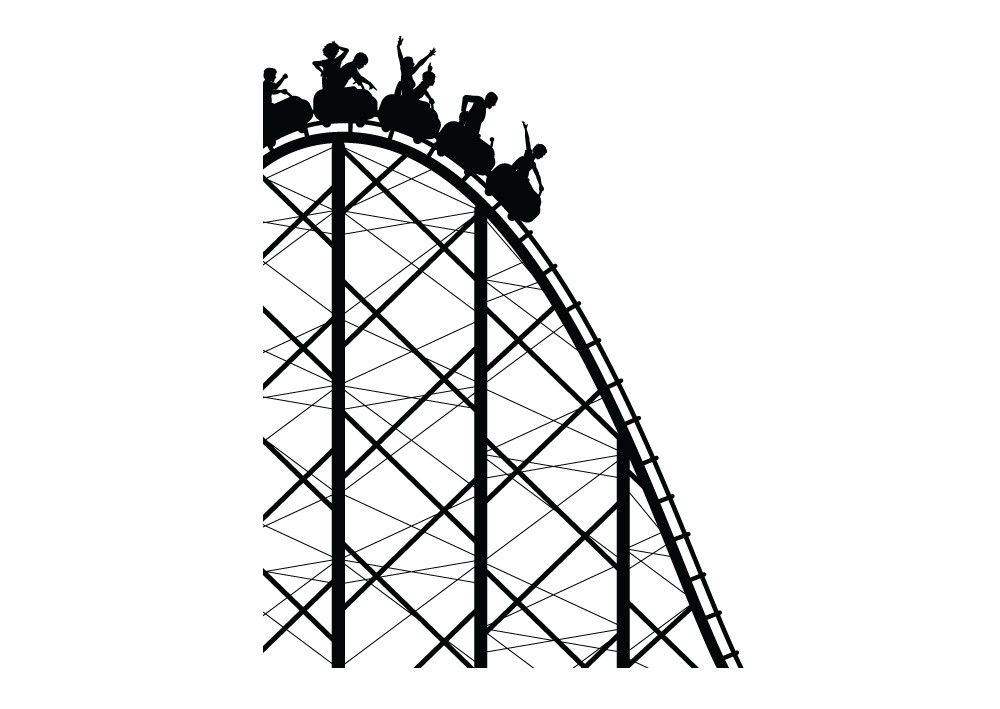 31+ Roller coaster clipart black and white info