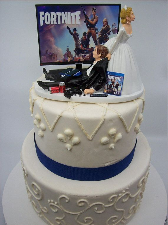 Spring SALE - GAMER Funny Wedding Cake Topper Video Game ...