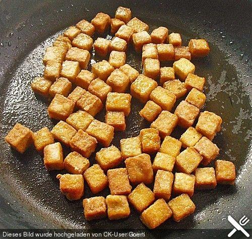 Grundrezept für knusprig gebratenen Tofu von gloryous | Chefkoch #vegetariangrilling