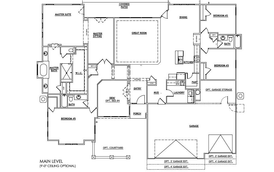 Floor Plan Oakmont Salisbury Homes Southern Utah Home Builder Utah Home Builders Floor Plans Salisbury Homes