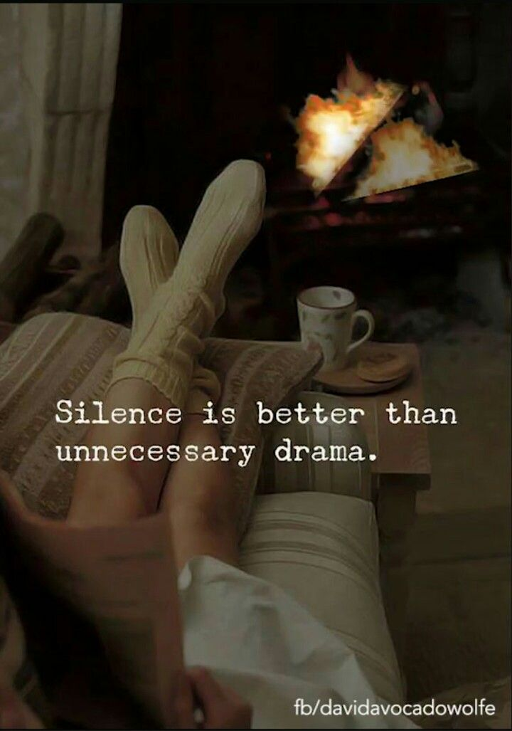 Silence is better than unnecessary drama. | Inspirational