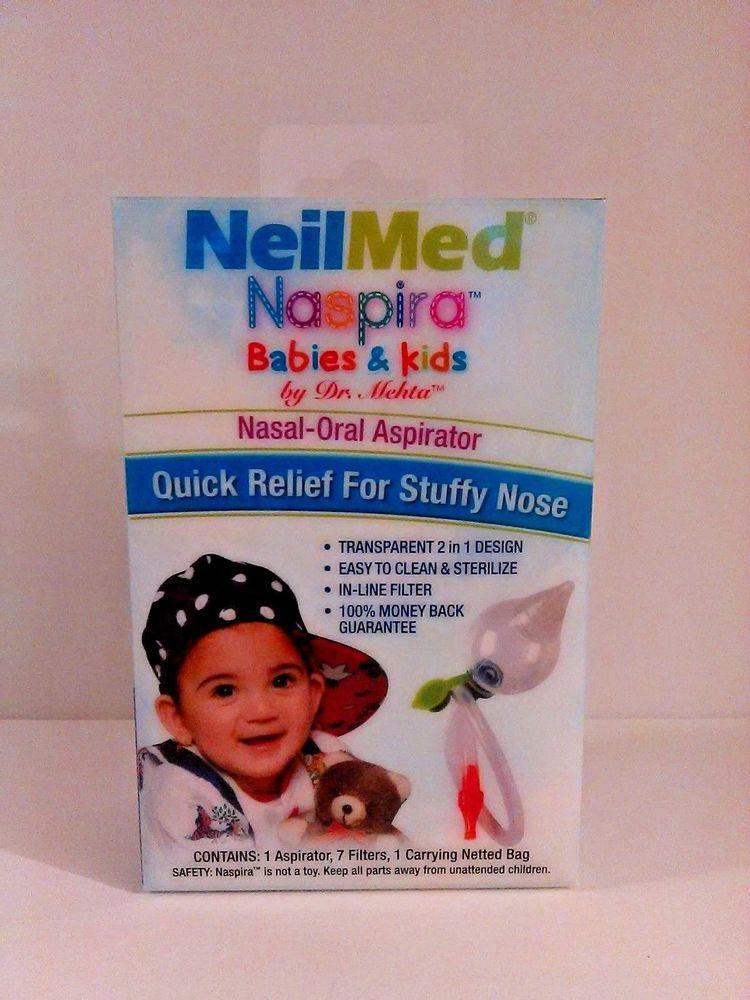 Neil Med Naspira Nasal-Oral Aspirator kit for Babies /& Kids NEW
