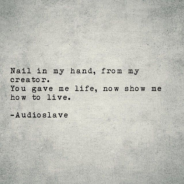 Show Me How To Live Audioslave Rip Chris Cornell With