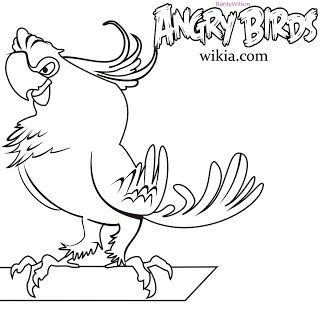 Angry Birds Rio Coloring Pages   鳥類線稿   Pinterest   Angry birds