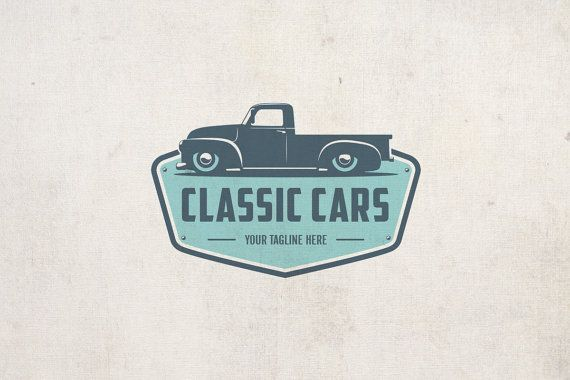Items similar to Classic Cars – Vintage Logo – Retro Cars – Emblem Logo – Busine…