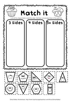 Shape Worksheets Geometry Worksheets Kindergarten Grade One