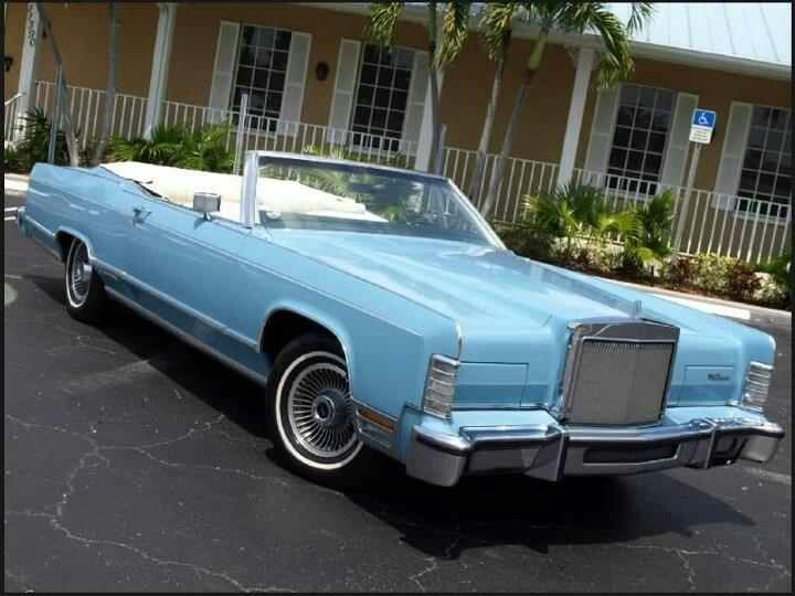 Baby Blue Lincoln Continental 1979 Cars Transportation