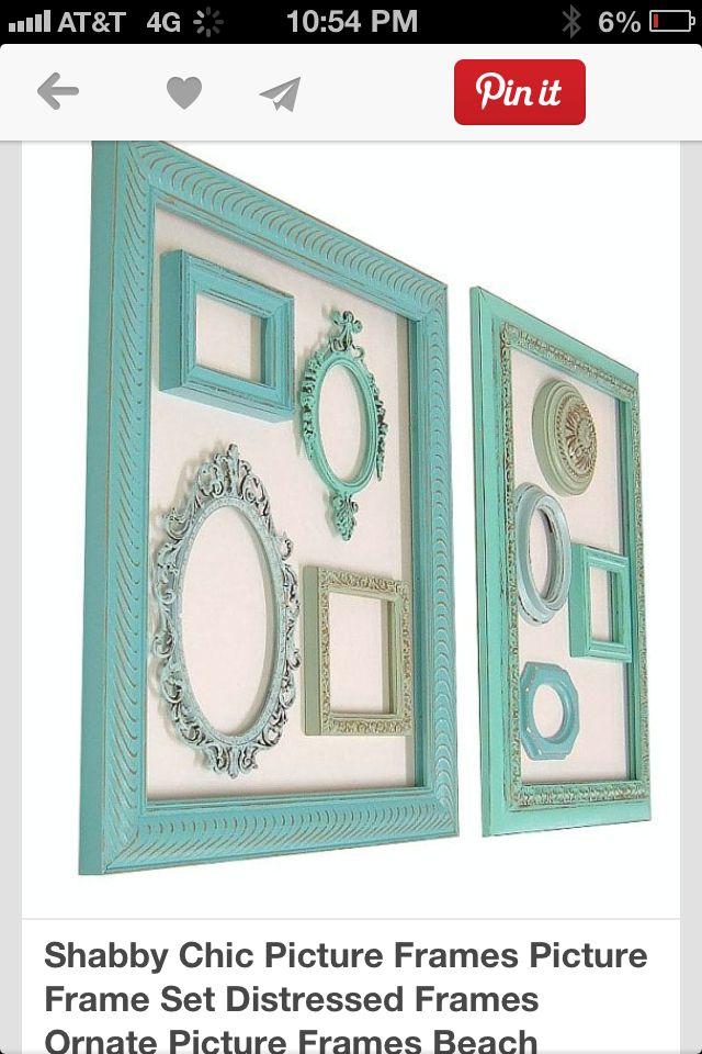 Easy cheap pretty wall decor | Frames | Pinterest | Marcos, Cuadro y ...