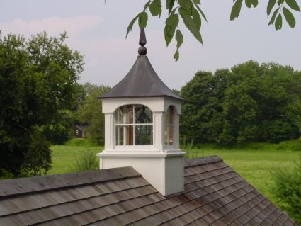 Large copper roof windowed cupola weathervane cupolas for Roof cupola plans