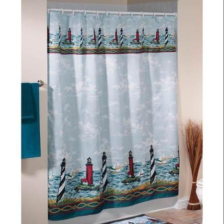 walterdrake lighthouse shower curtain